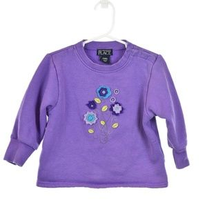 The Children's Place Purple Embroidered Sweatshirt